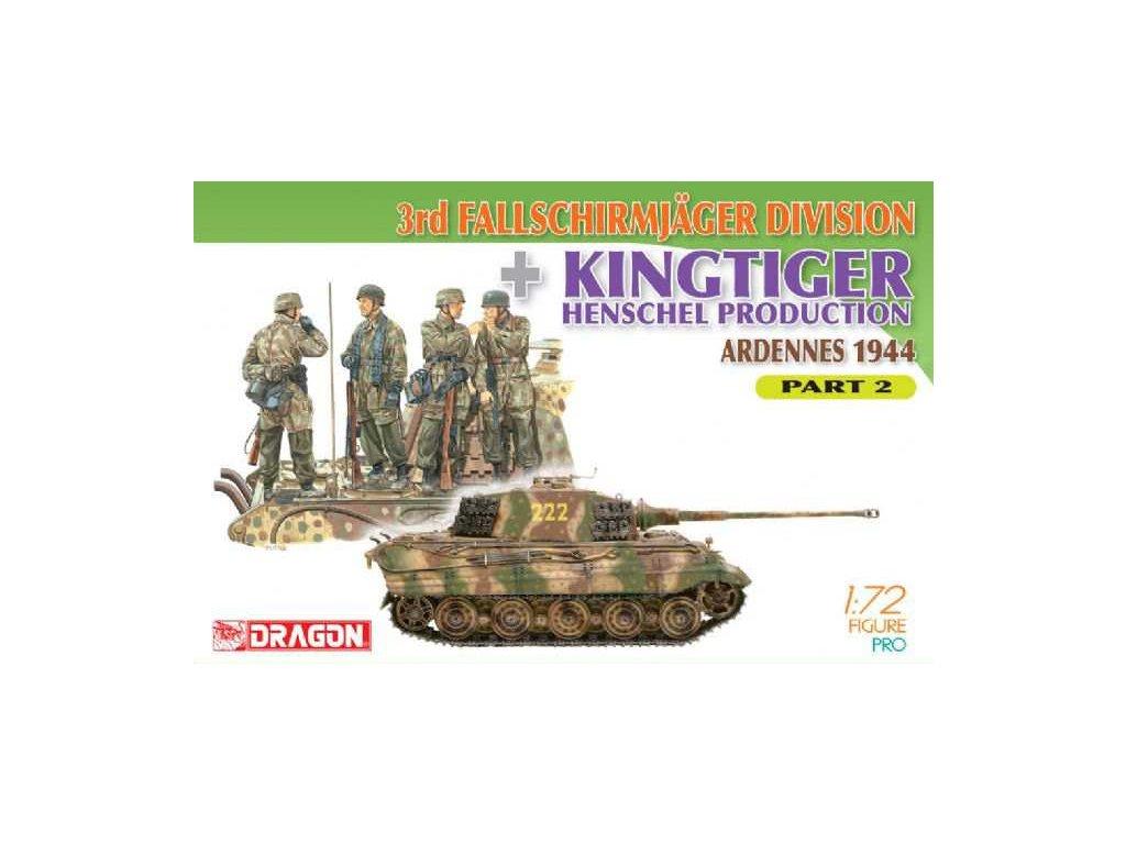 3rd Fallschirmjager Division + Kingtiger Henschel Production (Ardennes 1944) Part 2 1:72
