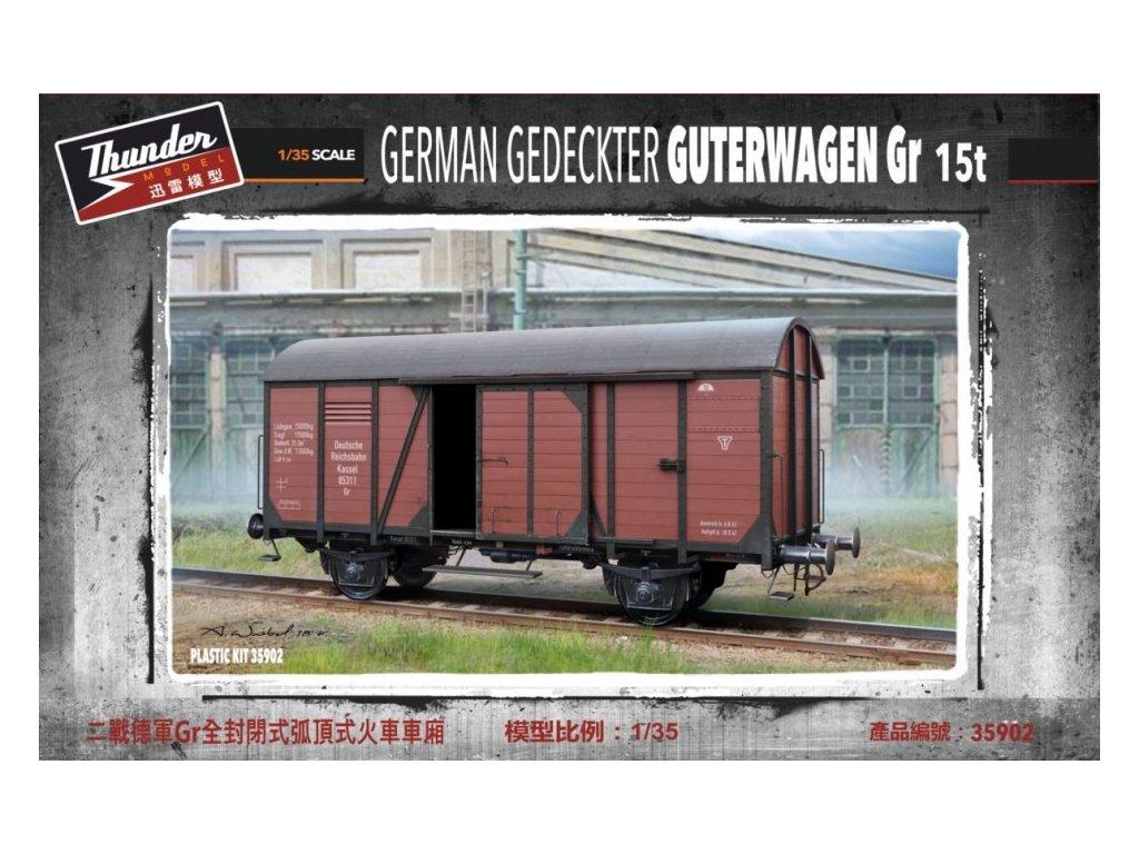 German Gedeckter Guterwagen Gr.15 1:35