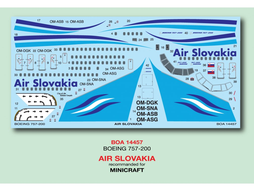 Boeing 757-200 (Air Slovakia) 1:144