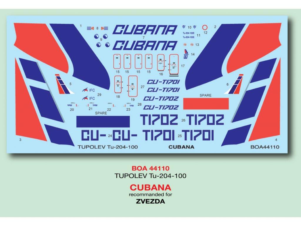 Tupolev Tu-204-100 Cubana 1:144