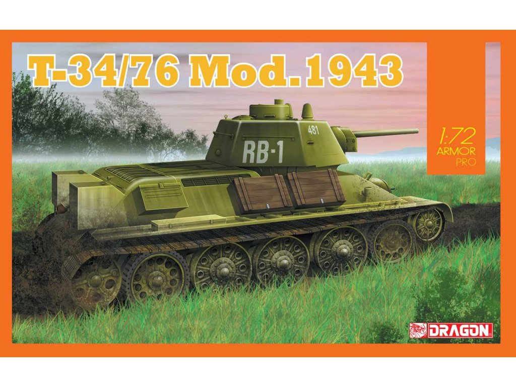 Model Kit tank 7596 T 34 76 Mod 1943 1 72 a94086731 10374