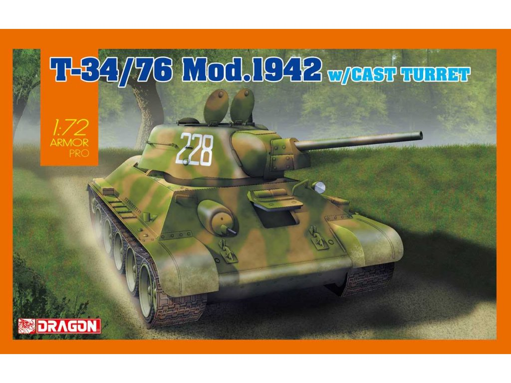 Model Kit tank 7601 T 34 76 Mod 1942 Cast Turret 1 72 a96978898 10374