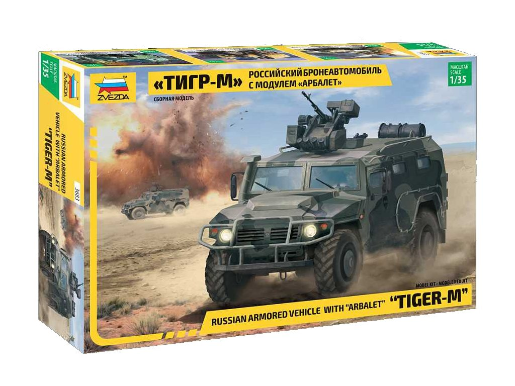 Model Kit military 3683 GAZ Tiger w Arbalet 1 35 a98928840 10374