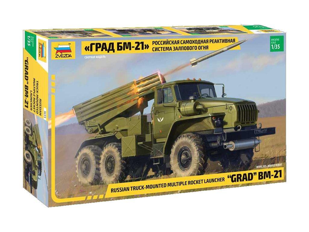Model Kit military 3655 BM 21 Grad Rocket Launcher 1 35 a98928210 10374