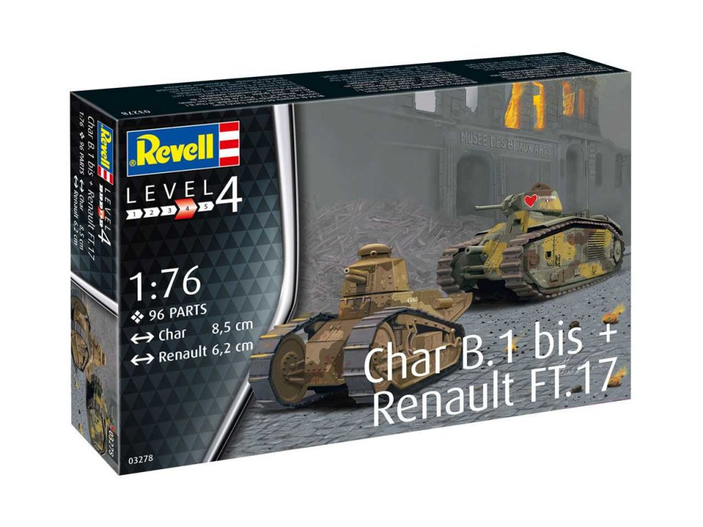 Plastic ModelKit military 03278 Char B 1 bis Renault FT 17 1 76 a99291062 10374