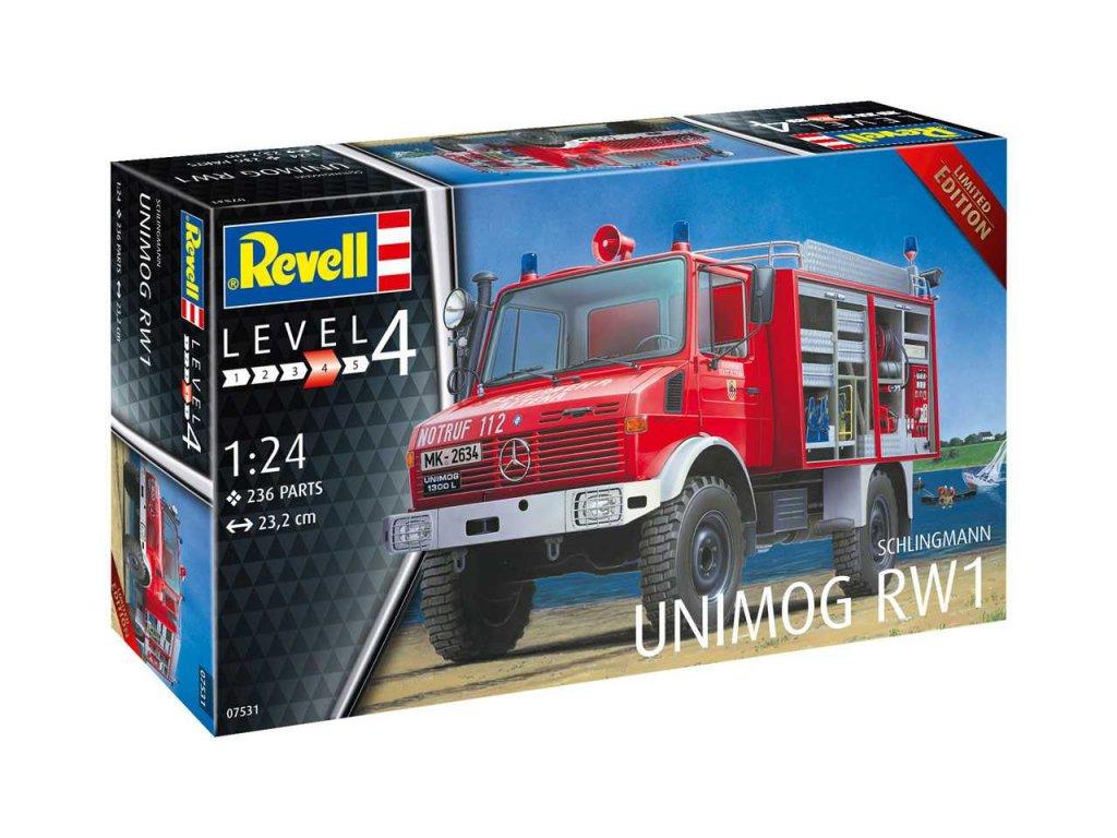 Plastic ModelKit auto 07531 Schlingmann Unimog RW1 1 24 a99290769 10374