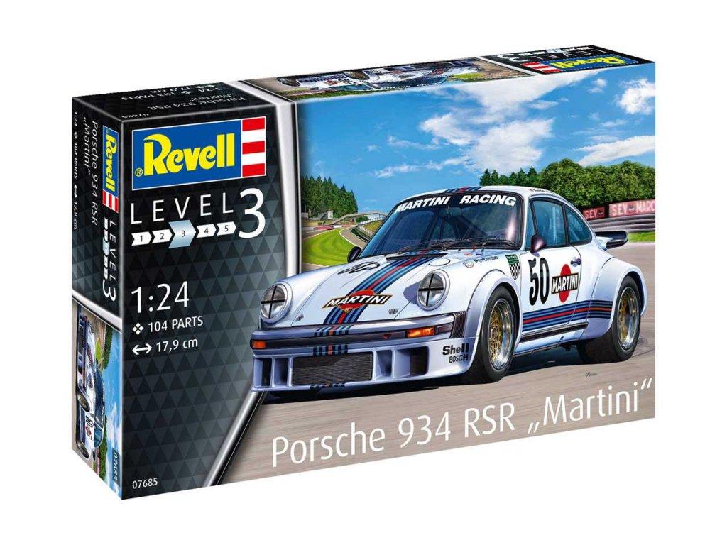Plastic ModelKit auto 07685 Porsche 934 RSR Martini 1 24 a99290487 10374