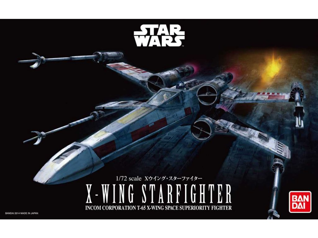 Plastic ModelKit BANDAI SW 01200 X Wing Starfighter 1 72 a99288280 10374