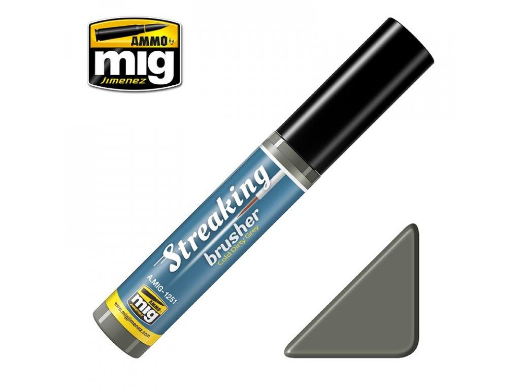 streakingbrusher cold dirty grey