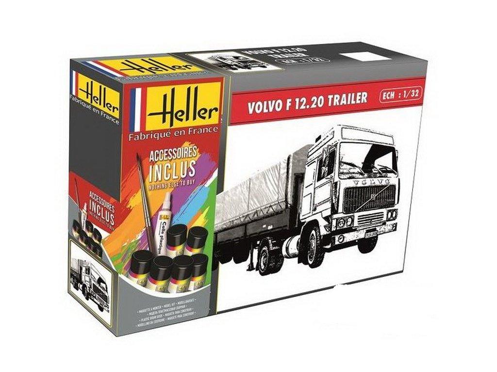 VOLVO F12-20 Globetrotter & Twin-Axle Semi trailer ModelSet 1:32