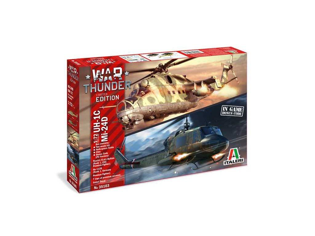 Model Kit vrtulniky War Thunder 35103 UH 1C MI 24D 1 72 a100677446 10374