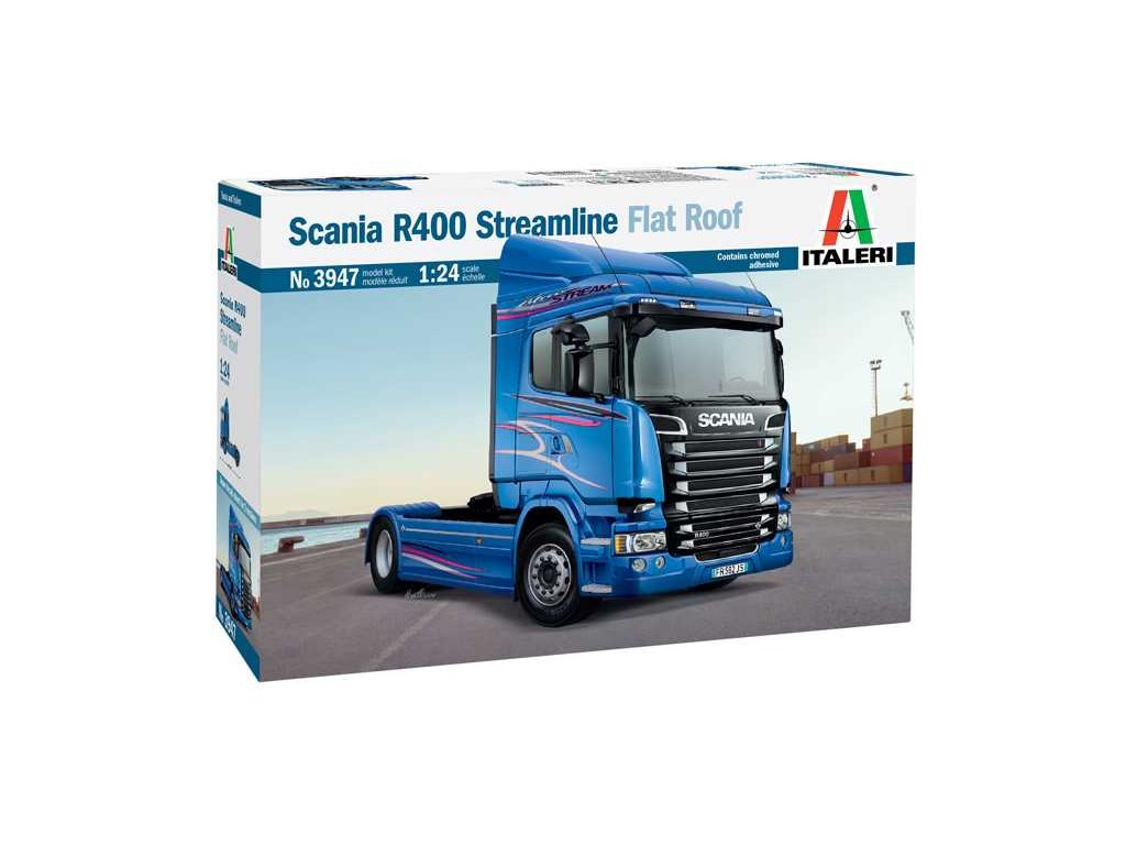 Model Kit truck 3947 SCANIA R400 STREAMLINE Flat Roof 1 24 a100677831 10374