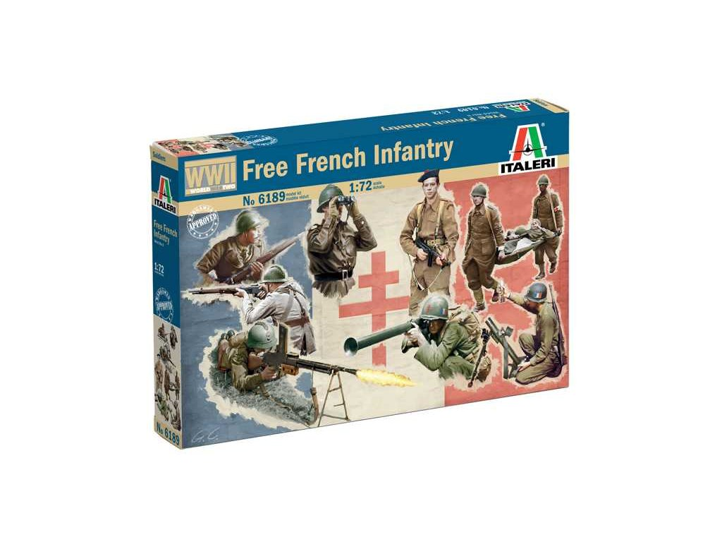 Model Kit figurky 6189 WWII Free French Infantry 1 72 a88793421 10374