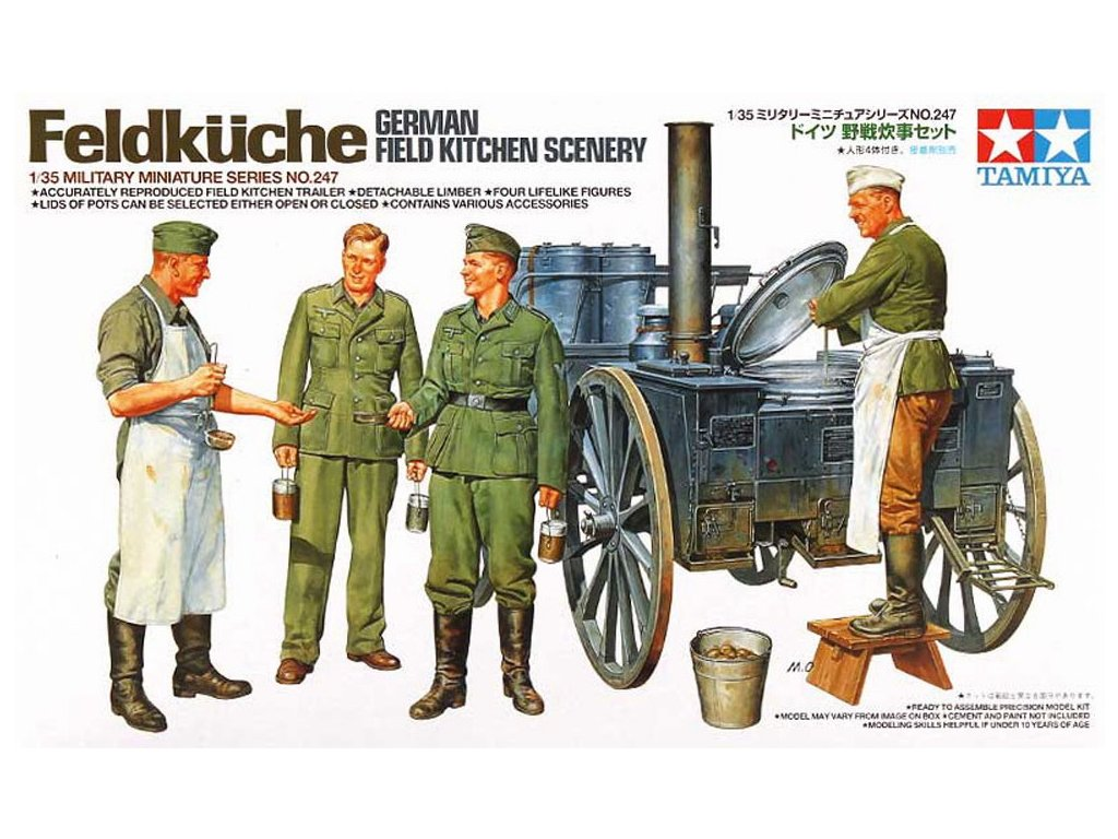 OHS Tamiya 35247 1 35 German Field Kitchen Scenery Assembly Military Miniatures Model Building Kits G