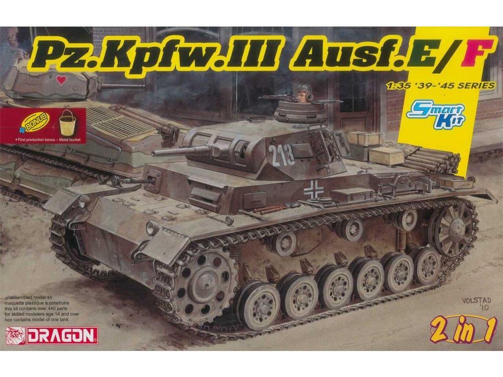 Model Kit tank 6944 Pz Kpfw III Ausf E F Smart kit 2 in 1 1 35 a101133277 10374