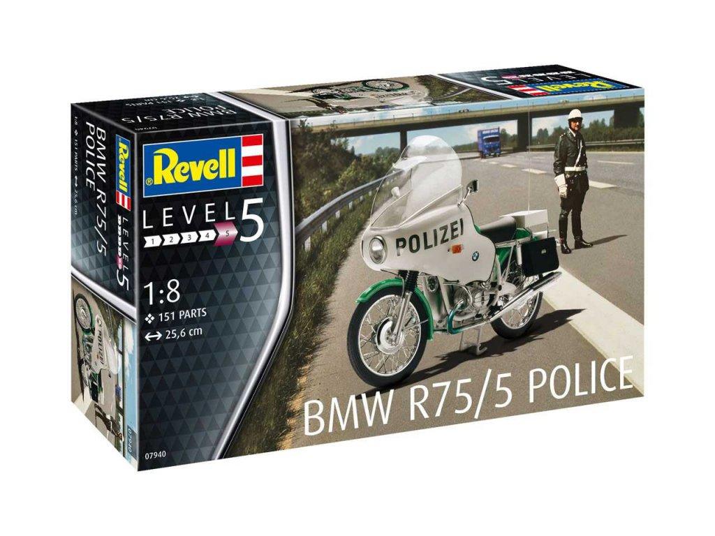 Plastic ModelKit motorka 07940 BMW R75 5 Police 1 8 a99290846 10374