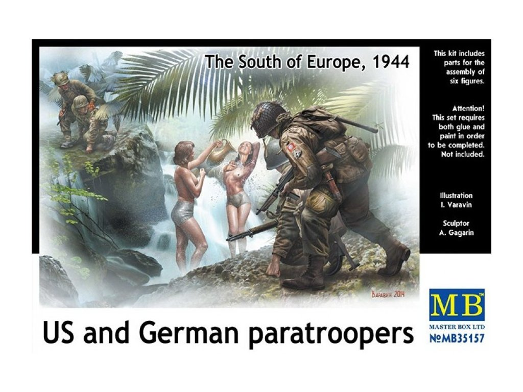 U.S. and German paratroopers, South of Europe 1:35