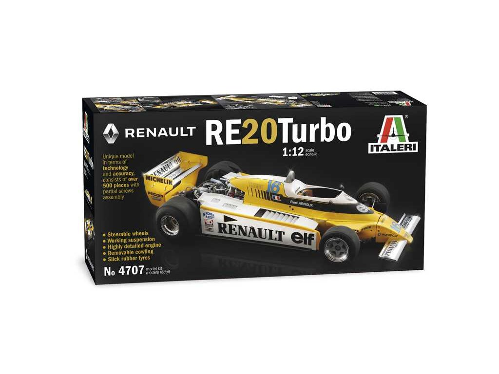 Model Kit auto 4707 RENAULT RE 20 Turbo 1 12 a100677913 10374
