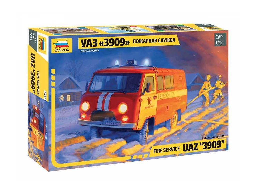 Model Kit auto 43001 Fire service UAZ 3909 1 43 a103408053 10374