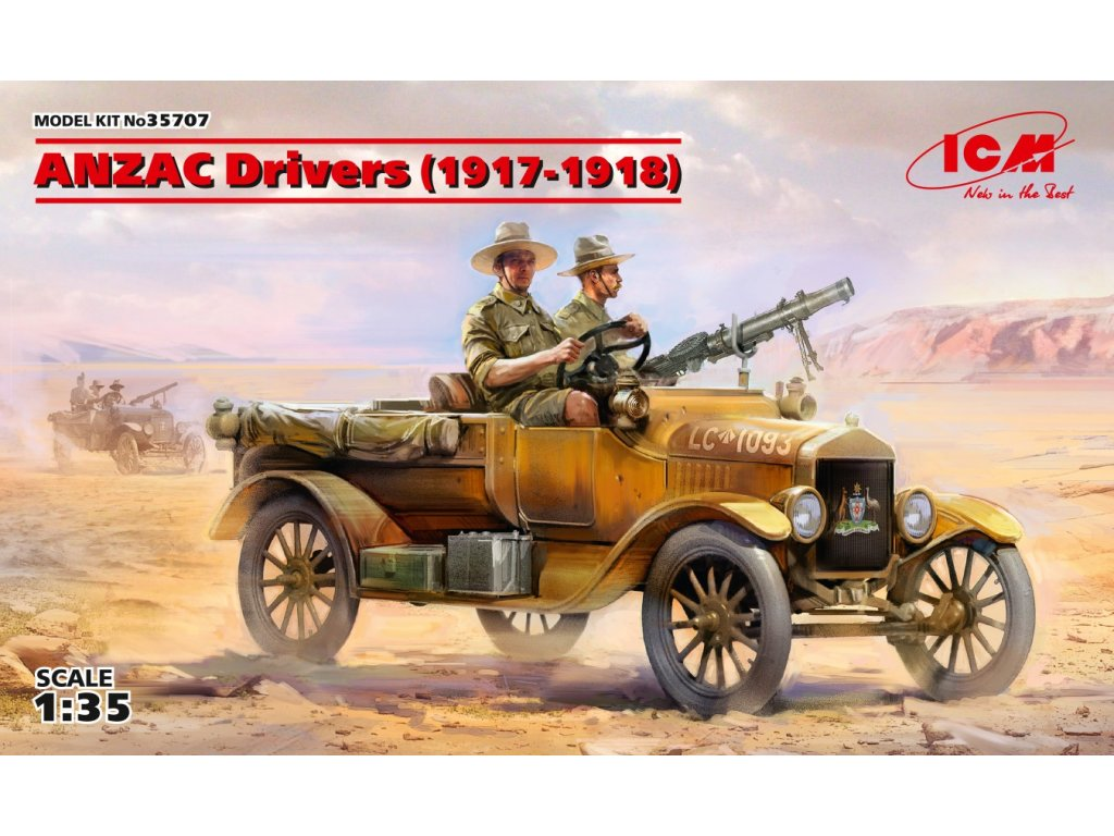 ANZAC Drivers (1917-1918) (2 figures) 1:35