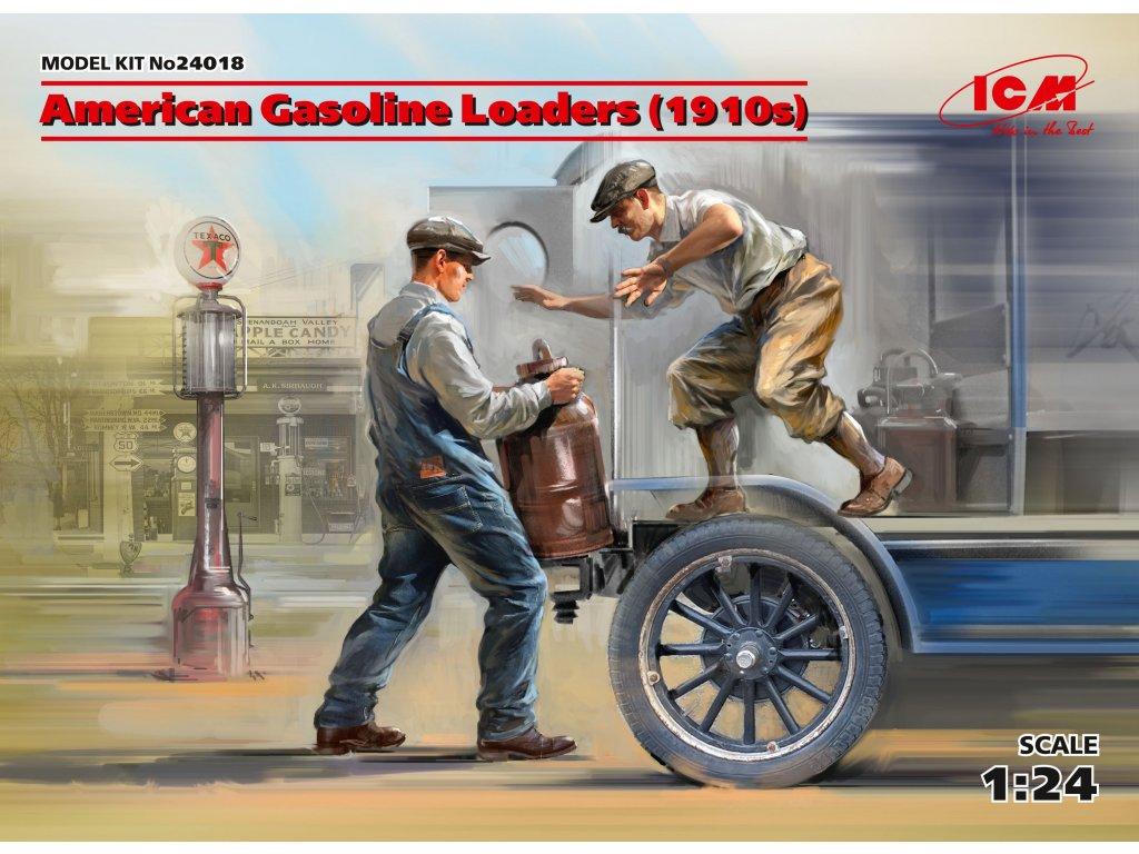 American Gasoline Loaders (1910s) (2 figures) 1:24