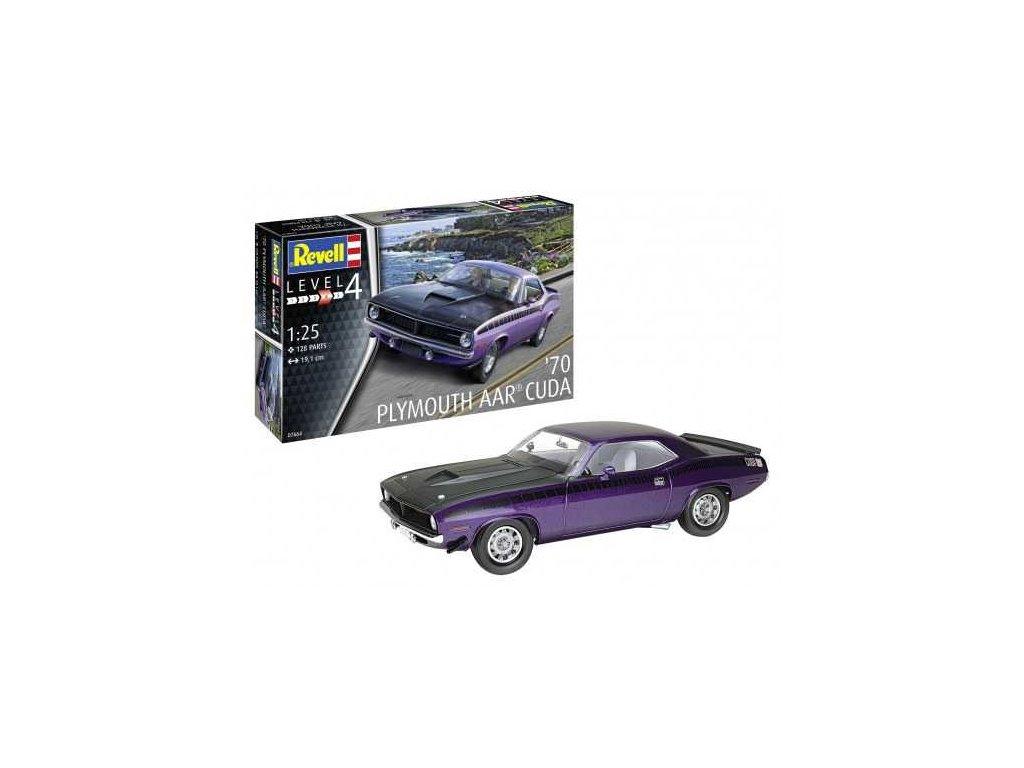 Plastic ModelKit auto 07664 70 Plymouth AAR Cuda 1 25 a99290564 10374