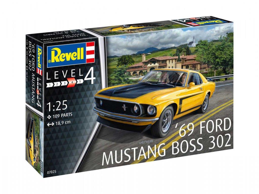 Plastic Modelkit auto 07025 1969 Boss 302 Mustang 1 25 a103408597 10374