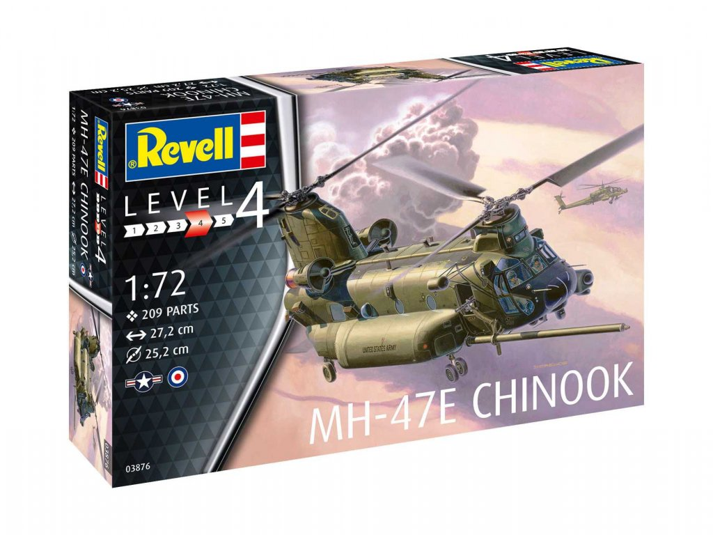 Plastic ModelKit vrtulnik 03876 MH 47 Chinook 1 72 a99289455 10374