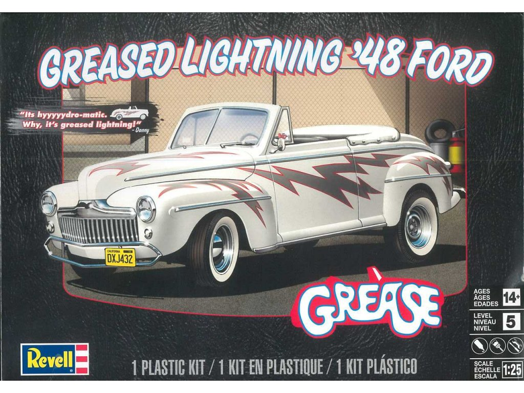 Plastic ModelKit MONOGRAM auto 4443 Greased Lightning 48 Ford Convertible 1 25 a99951907 10374