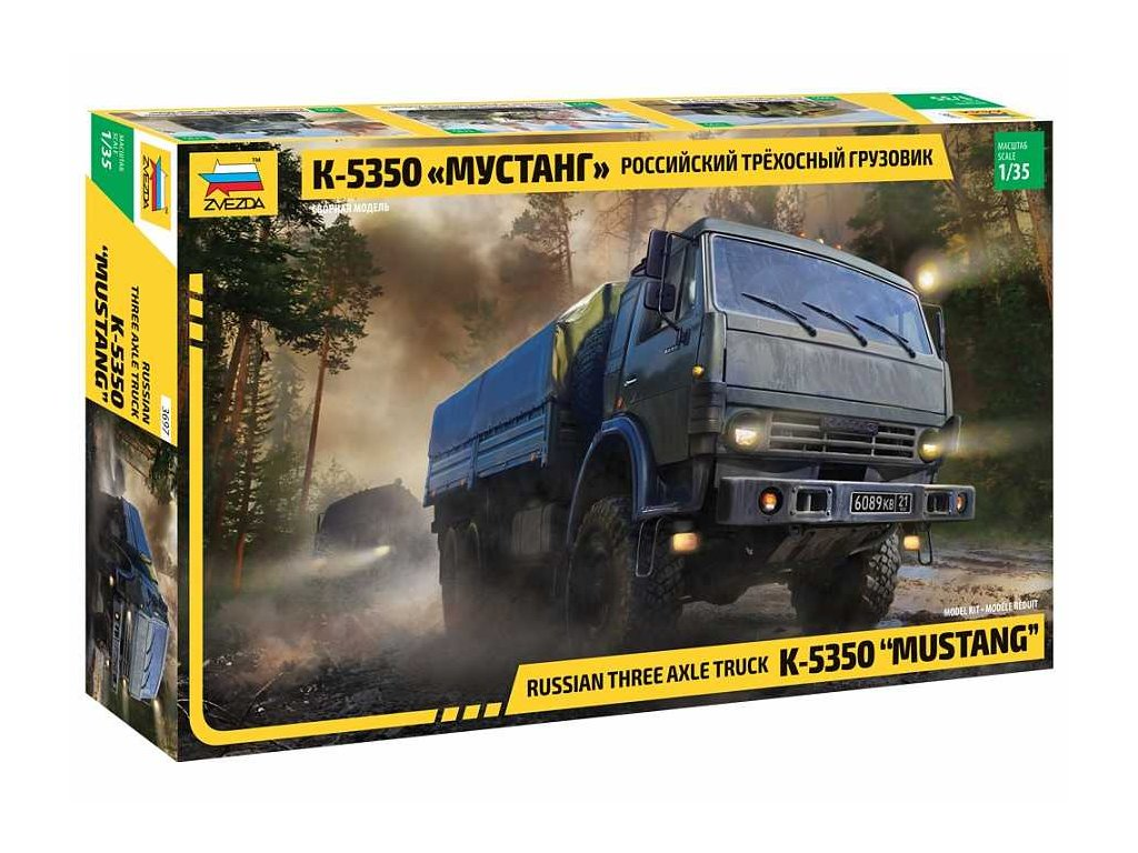 Model Kit military 3697 Russian three axle truck K 5350 MUSTANG 1 35 a98929189 10374
