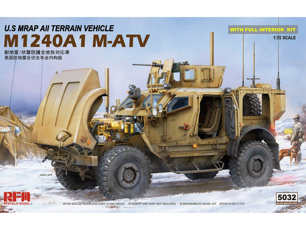 U.S MRAP All Terrain Vehicle M1240A1 M-ATV 1:35