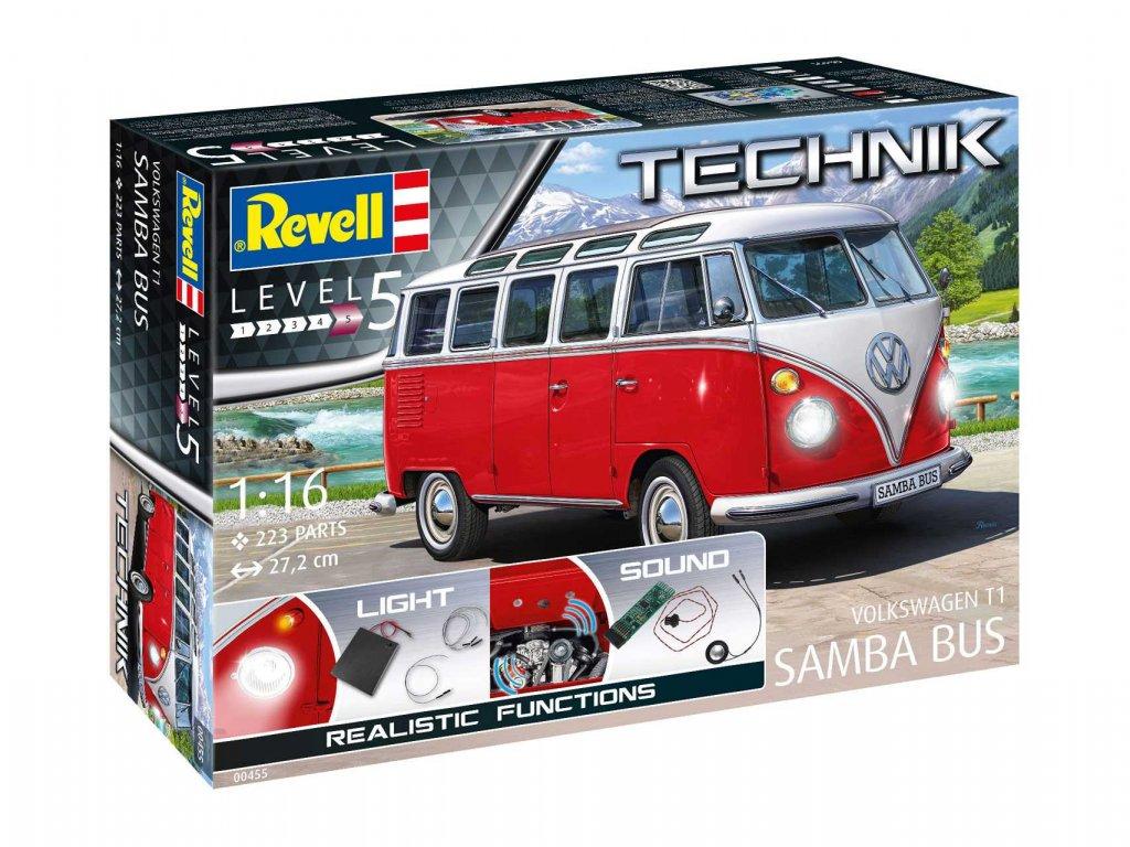 Plastic ModelKit TECHNIK auto 00455 Volkswagen T1 Samba Bus 1 16 a99289218 10374