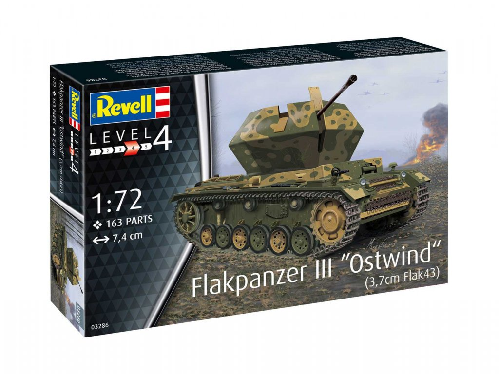 Plastic Modelkit tank 03286 Flakpanzer III Ostwind 3 7cm Fl 1 72 a103408645 10374