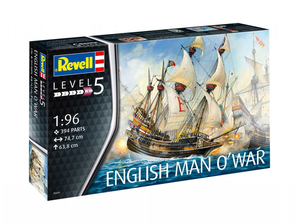 Plastic ModelKit lod 05429 English Man O War 1 96 a99290377 10374