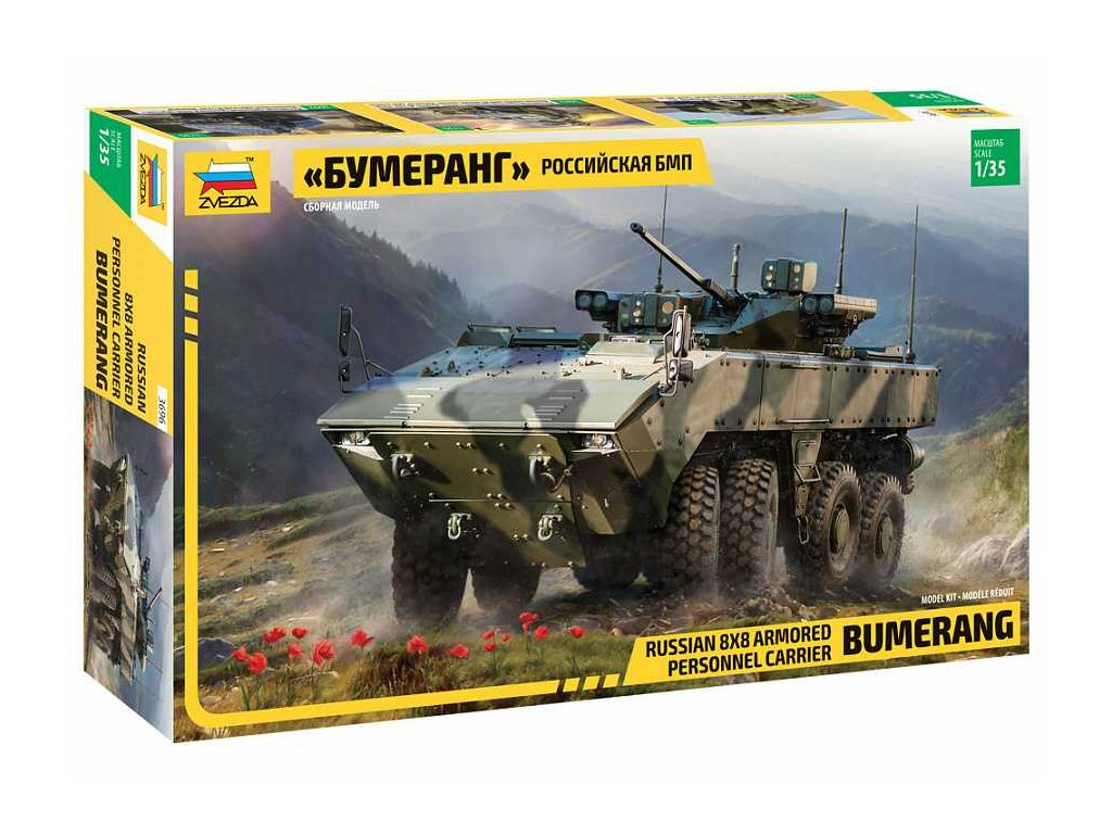 Model Kit military 3696 Bumerang Russian APC 1 35 a98929183 10374 (1)