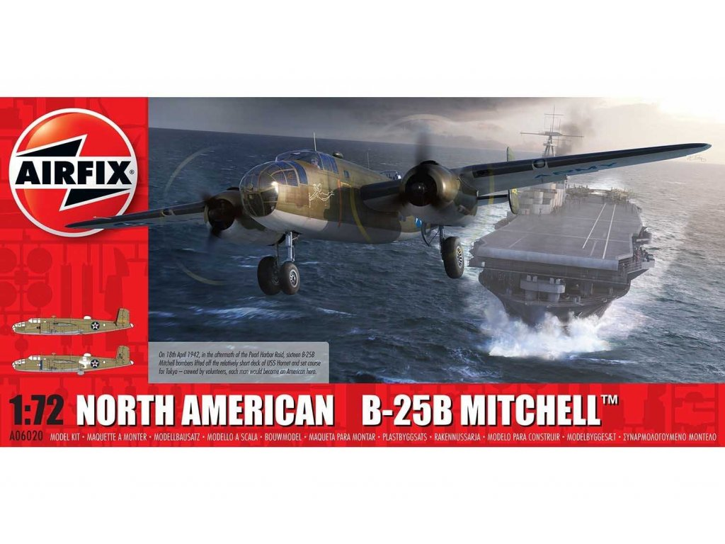 Classic Kit letadlo A06020 North American B25B Mitchell Doolittle Raid 1 72 a99096930 10374