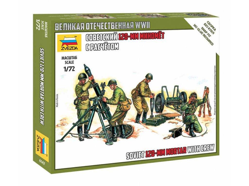 Wargames WWII figurky 6147 Soviet 120mm Mortar w Crew 1 72 a109312678 10374