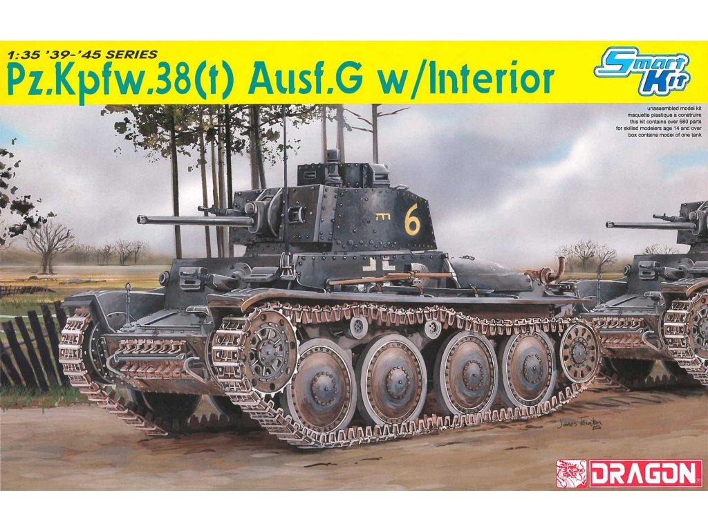 Model Kit tank 6290 Pz Kpfw 38 t Ausf G w INTERIOR SMART KIT 1 35 a64296220 10374