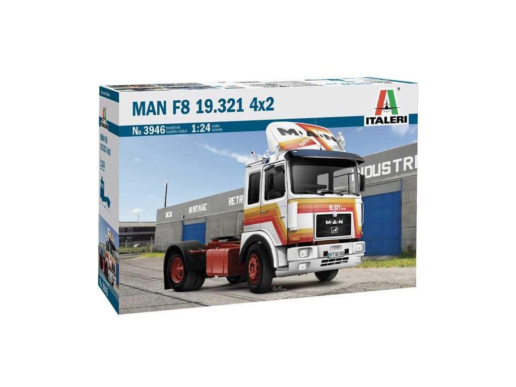 Model Kit truck 3946 MAN F8 19 321 4x2 1 24 a100677825 10374