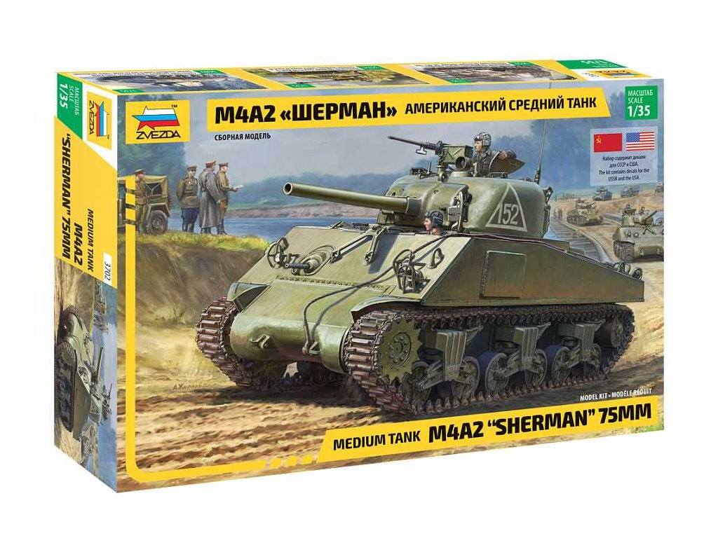 Model Kit tank 3702 M4 A2 Sherman 1 35 a109312487 10374