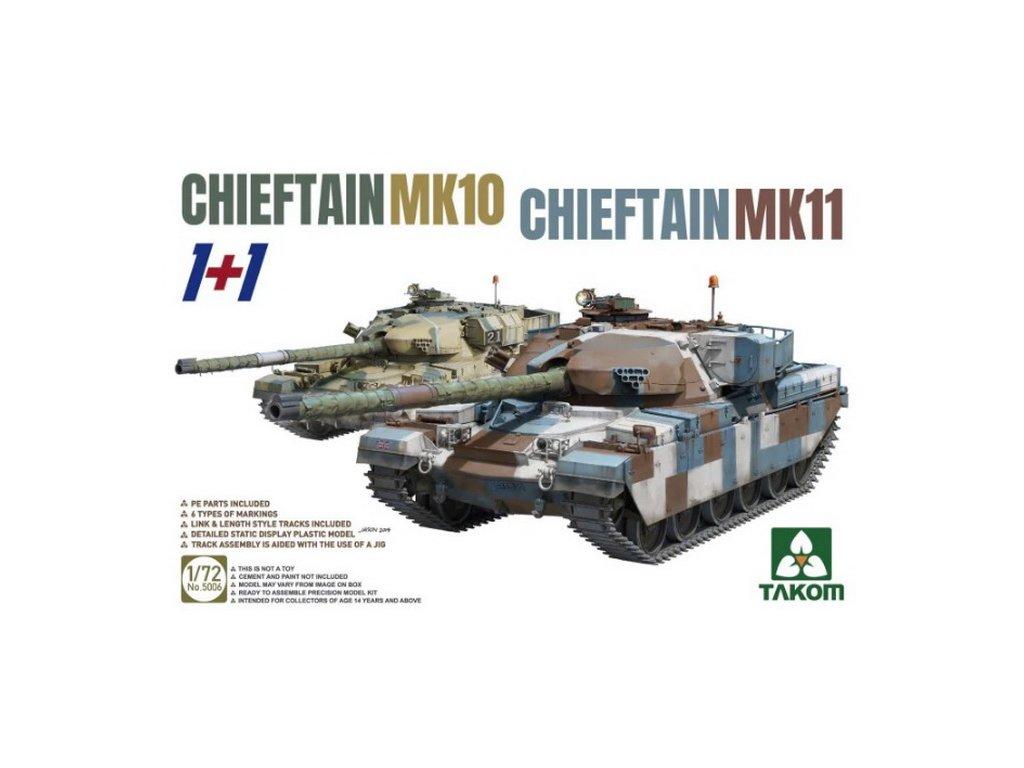 2 kits Combo Chieftain Mk.10 + Mk.11 1:72