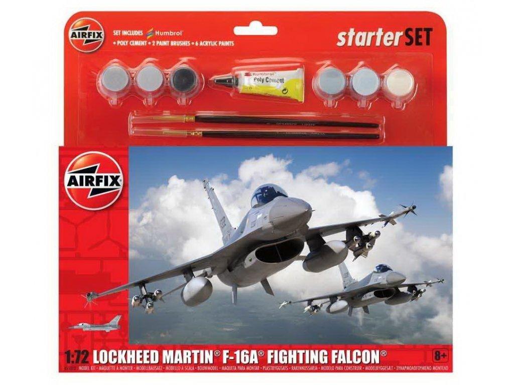 Starter Set letadlo A55312 General Dynamics F 16A B Fighting Falcon 1 72 a99096366 10374