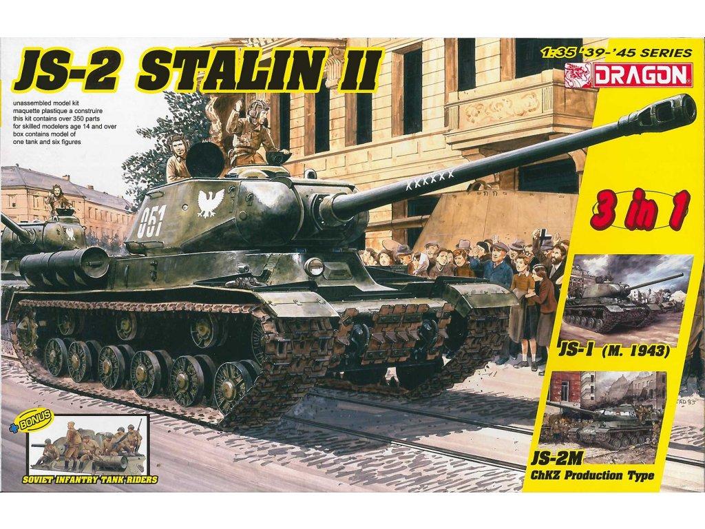 Model Kit military 6537 JS 2 Stalin II 3 in 1 Soviet Infantry Tank Riders 1 35 a112142067 10374