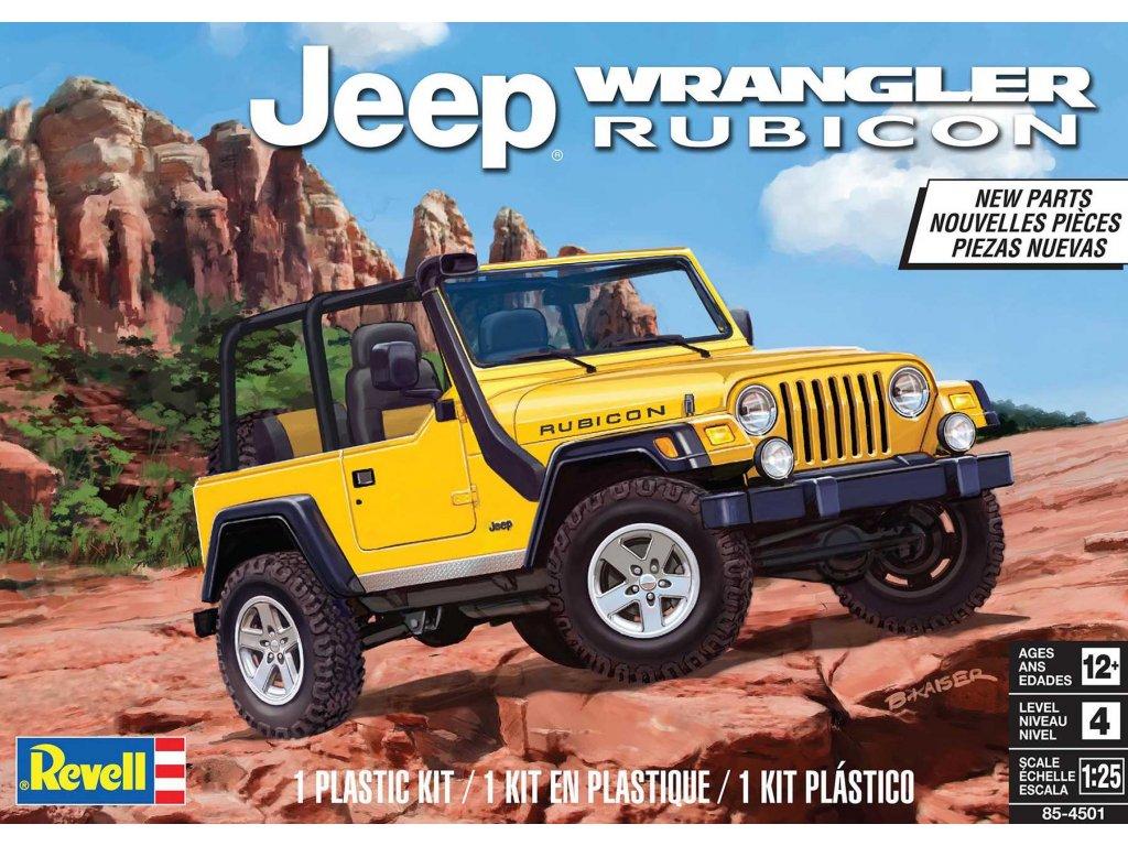 Plastic ModelKit MONOGRAM auto 4501 Jeep Wrangler Rubicon 1 25 a113214515 10374