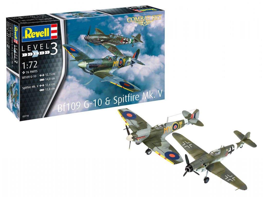 ModelSet letadla 63710 Bf109G 10 Spitfire Mk V 1 72 a119135499 10374