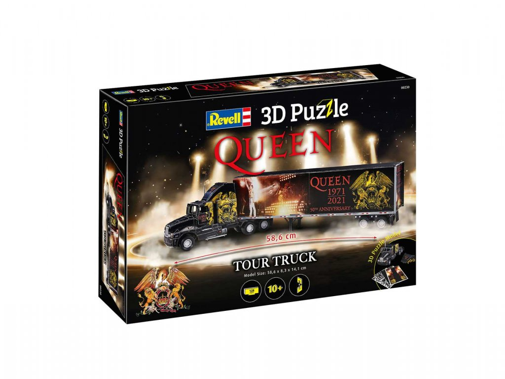 3D Puzzle REVELL 00230 QUEEN Tour Truck 50th Anniversary a109311966 10374