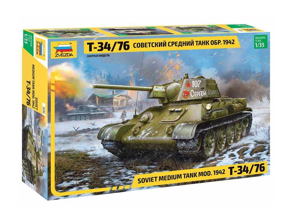 Model Kit tank 3686 T 34 76 mod 1942 1 35 a109312456 10374