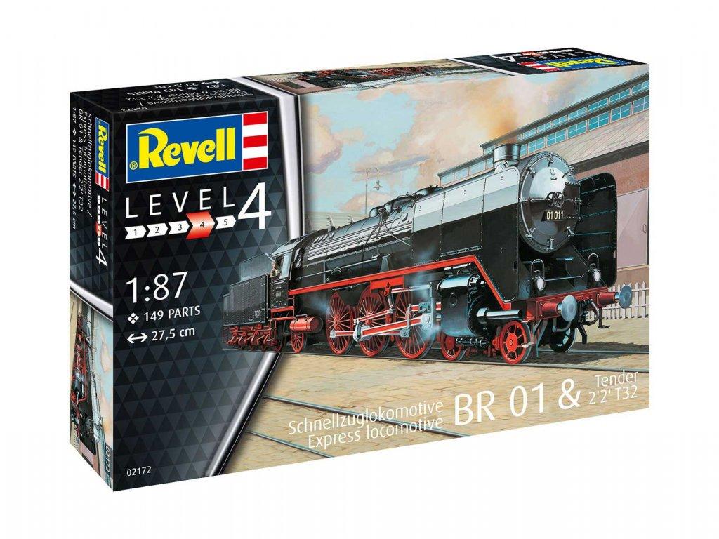 Plastic ModelKit lokomotiva 02172 Schnellzuglok BR01 mit Tender 2 2 T32 1 87 a119007526 10374