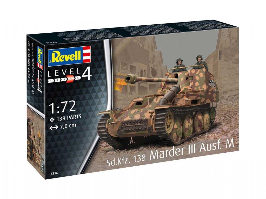 Plastic ModelKit military 03316 Sd Kfz 138 Marder III Ausf M 1 72 a109310307 10374