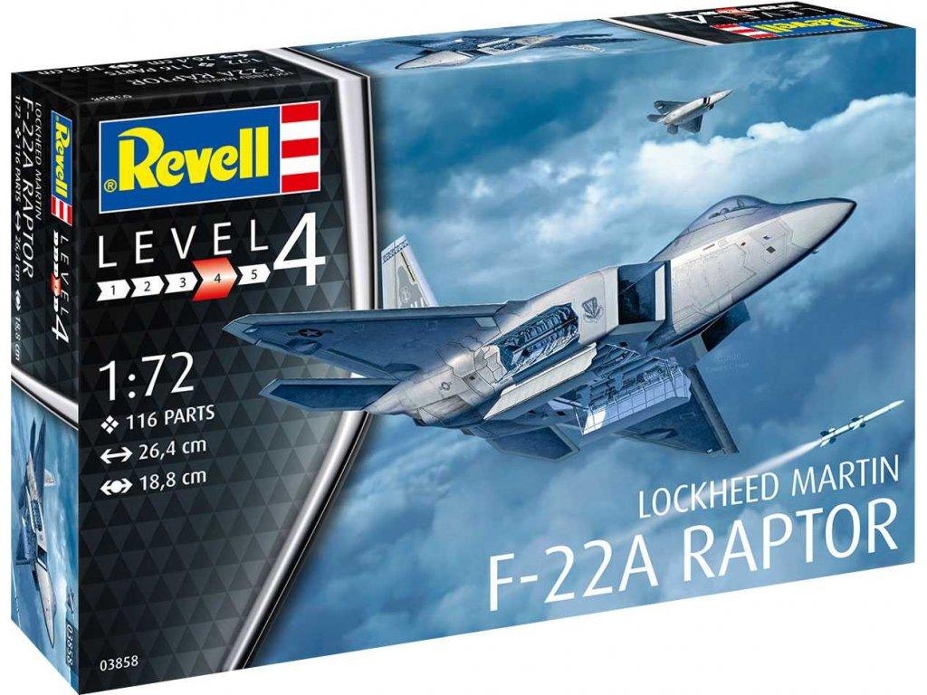Plastic ModelKit letadlo 03858 Lockheed Martin F 22A Raptor 1 72 a119007274 10374
